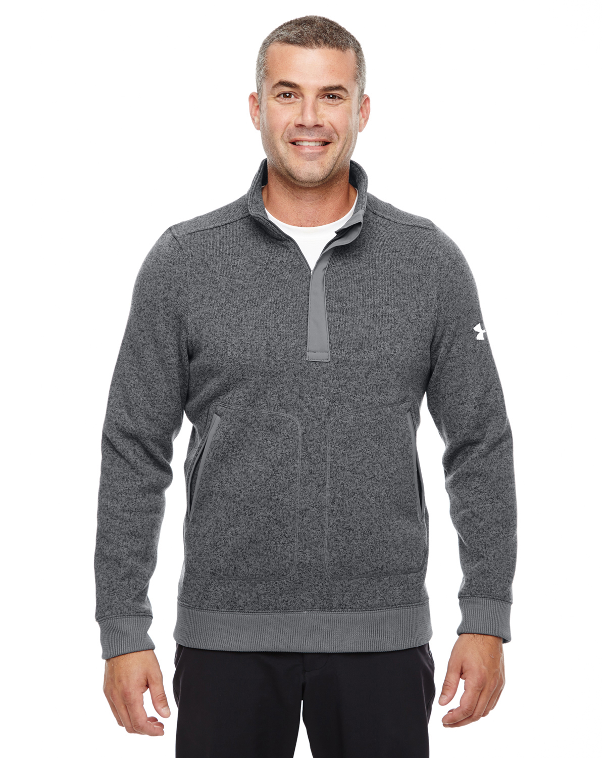 MENS UA ELEVATE QUARTER-ZIP SWEATER