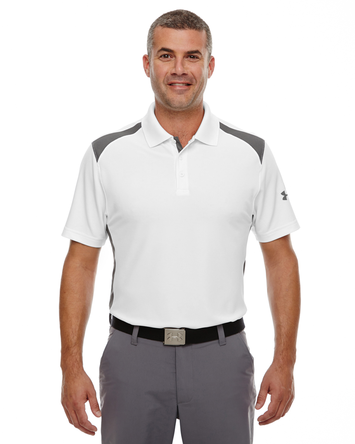MENS UA TEAM COLORBLOCK POLO