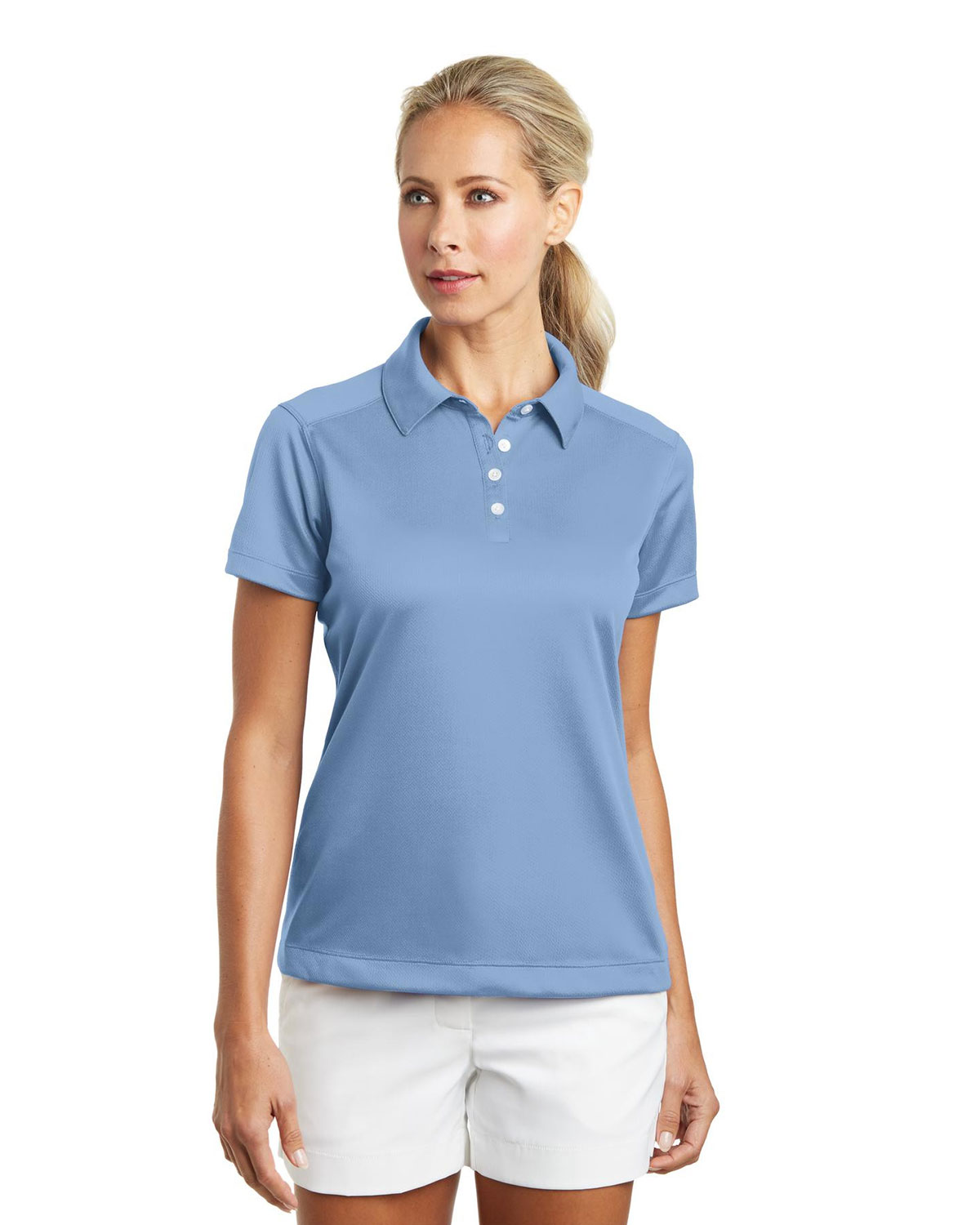 LADIES DRI-FIT PEBBLE TEXTURE POLOS