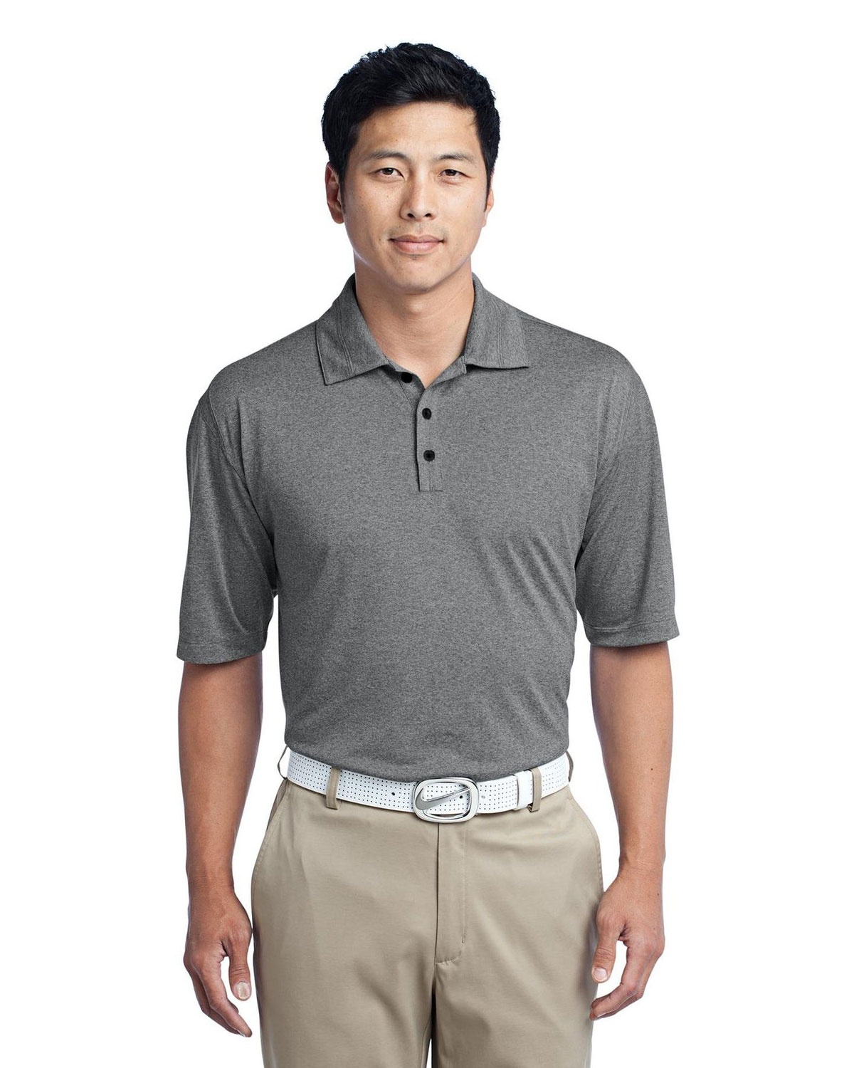 DRI-FIT HEATHER POLOS